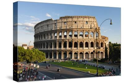 Colosseum Rome-Charles Bowman-Stretched Canvas Print