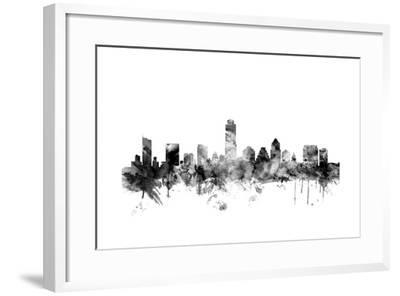Austin Texas Skyline-Michael Tompsett-Framed Art Print