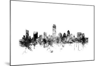 Austin Texas Skyline-Michael Tompsett-Mounted Art Print