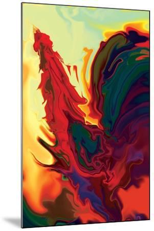 The Cock 2-Rabi Khan-Mounted Art Print