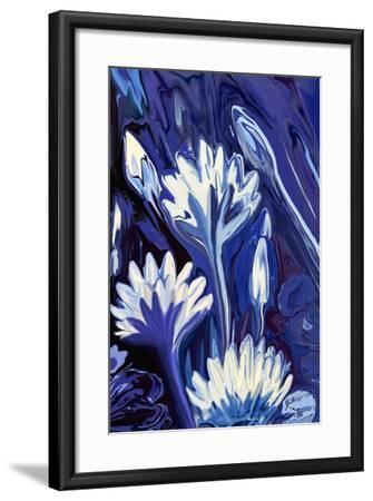 Lotus in Blue-Rabi Khan-Framed Art Print