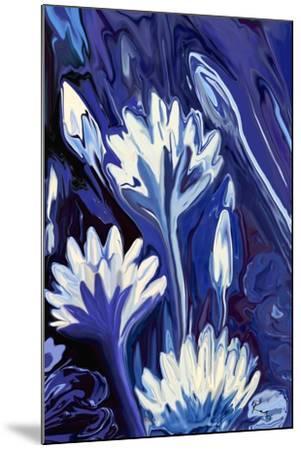 Lotus in Blue-Rabi Khan-Mounted Art Print