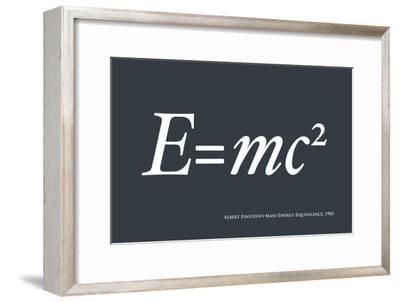 Einstein E equals mc2-Michael Tompsett-Framed Art Print
