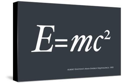 Einstein E equals mc2-Michael Tompsett-Stretched Canvas Print