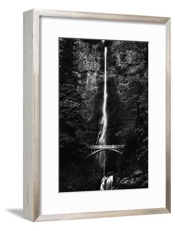 Multnomah Falls 1 mono-John Gusky-Framed Photographic Print