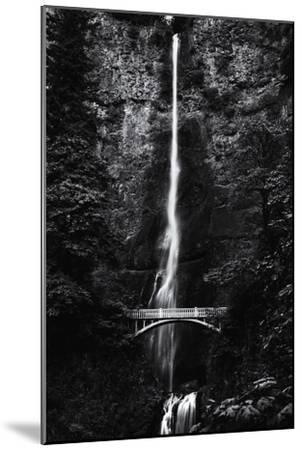 Multnomah Falls 1 mono-John Gusky-Mounted Photographic Print