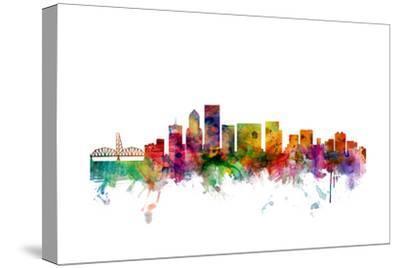 Portland Oregon Skyline-Michael Tompsett-Stretched Canvas Print
