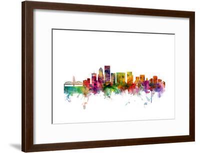 Portland Oregon Skyline-Michael Tompsett-Framed Art Print
