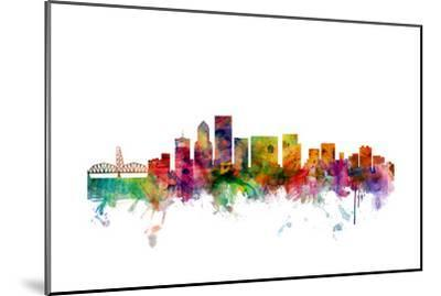 Portland Oregon Skyline-Michael Tompsett-Mounted Art Print