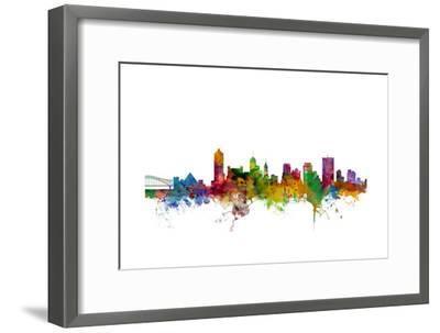 Memphis Tennessee Skyline-Michael Tompsett-Framed Art Print