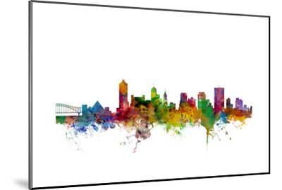 Memphis Tennessee Skyline-Michael Tompsett-Mounted Art Print