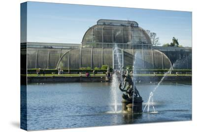 Kew Palm House-Charles Bowman-Stretched Canvas Print