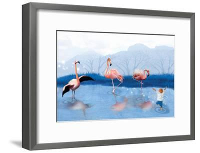 Flamingo Lesson-Nancy Tillman-Framed Art Print