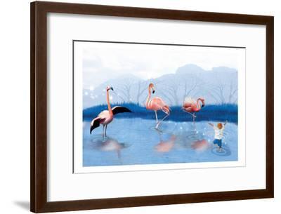Flamingo Lesson-Nancy Tillman-Framed Art Print
