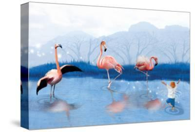 Flamingo Lesson-Nancy Tillman-Stretched Canvas Print
