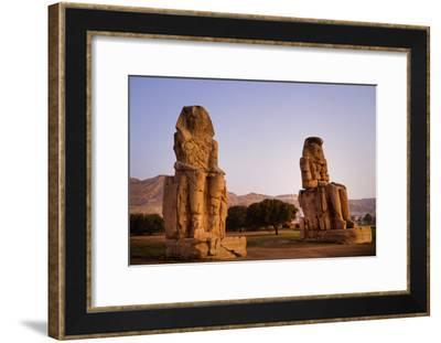 Colossi Of Memnon In Egypt-Charles Bowman-Framed Photographic Print