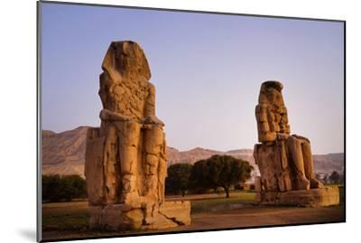 Colossi Of Memnon In Egypt-Charles Bowman-Mounted Photographic Print