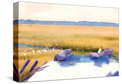 Hippo Friends-Nancy Tillman-Stretched Canvas Print