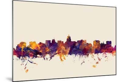 Madison Wisconsin Skyline-Michael Tompsett-Mounted Art Print