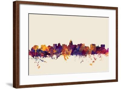Madison Wisconsin Skyline-Michael Tompsett-Framed Art Print
