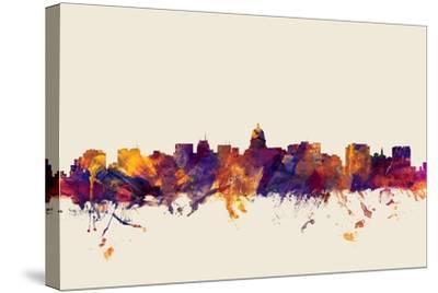 Madison Wisconsin Skyline-Michael Tompsett-Stretched Canvas Print