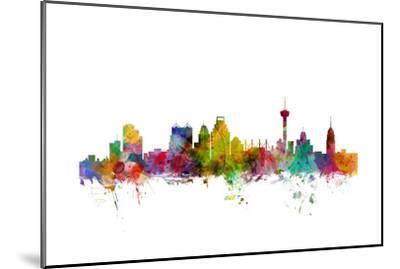 San Antonio Texas Skyline-Michael Tompsett-Mounted Art Print