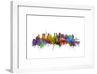 Tokyo Japan Skyline-Michael Tompsett-Framed Art Print
