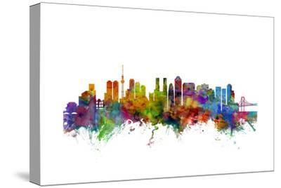 Tokyo Japan Skyline-Michael Tompsett-Stretched Canvas Print