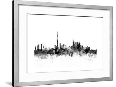 Toronto Canada Skyline-Michael Tompsett-Framed Art Print