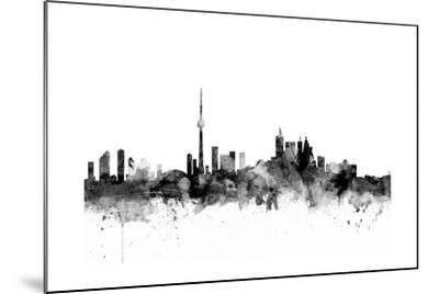 Toronto Canada Skyline-Michael Tompsett-Mounted Art Print