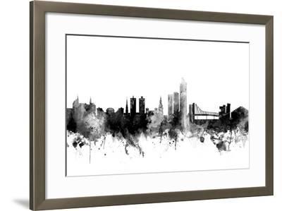 Oslo Norway Skyline-Michael Tompsett-Framed Art Print
