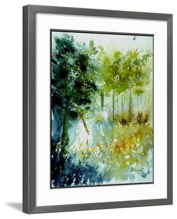 Watercolor Picking Flowers-Pol Ledent-Framed Art Print