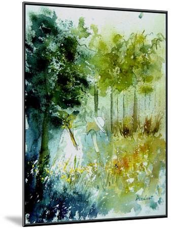 Watercolor Picking Flowers-Pol Ledent-Mounted Art Print
