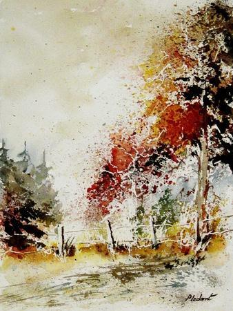 Watercolor Fall-Pol Ledent-Framed Art Print