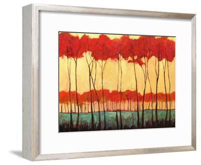 Tall Red Trees-Patty Baker-Framed Art Print