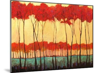 Tall Red Trees-Patty Baker-Mounted Art Print