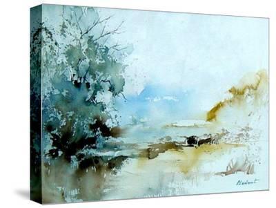 Watercolor 240405-Pol Ledent-Stretched Canvas Print