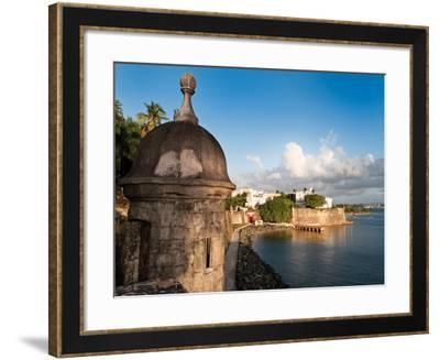 City Walls, Old San Juan, Puerto Rico-George Oze-Framed Photographic Print