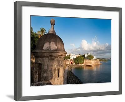 City Walls, Old San Juan, Puerto Rico-George Oze-Framed Photographic Print