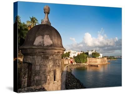 City Walls, Old San Juan, Puerto Rico-George Oze-Stretched Canvas Print