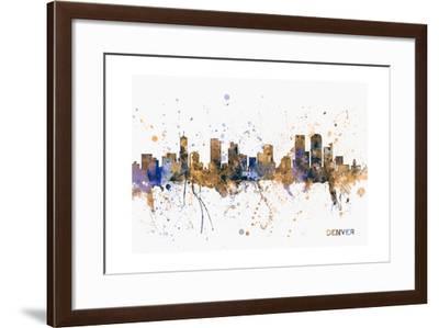 Denver Skyline-Michael Tompsett-Framed Art Print