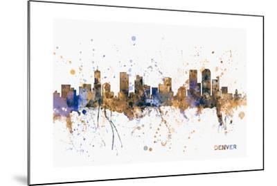 Denver Skyline-Michael Tompsett-Mounted Art Print