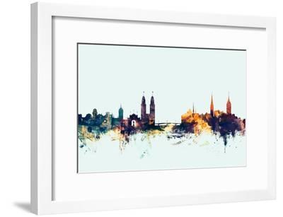 Zurich Switzerland Skyline-Michael Tompsett-Framed Photographic Print