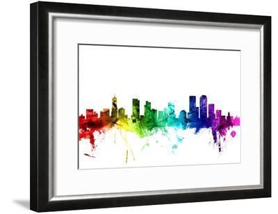 Denver Colorado Skyline-Michael Tompsett-Framed Photographic Print