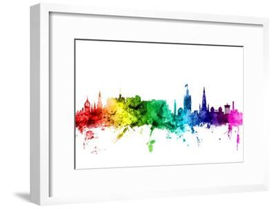 Edinburgh Scotland Skyline-Michael Tompsett-Framed Photographic Print