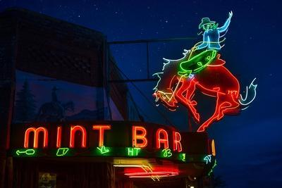 Mint Bar Neon Sheridan Wyoming-Steve Gadomski-Framed Photographic Print