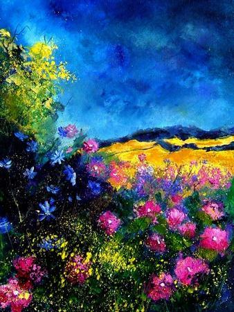 Field Flowers-Pol Ledent-Stretched Canvas Print