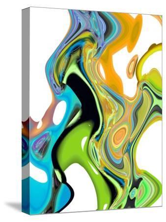 Citrus And Aqua II-Ruth Palmer-Stretched Canvas Print