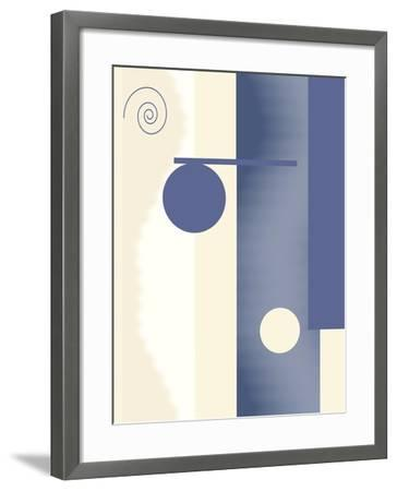 Blue Circle Series Two-Ruth Palmer-Framed Art Print