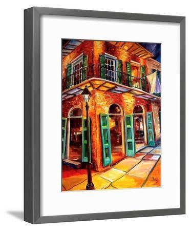 New Orleans Jazz Corner-Diane Millsap-Framed Art Print